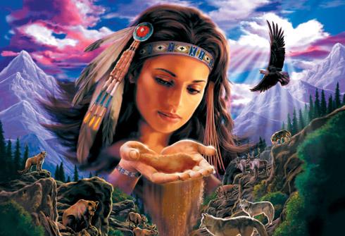 """amerindiens """"gardien de la terre"""""""